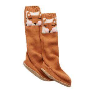 Aerie Fox Pom Pom Slipper Socks